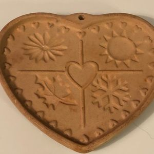 Pampered Chef Seasons of The Heart 1997 mold